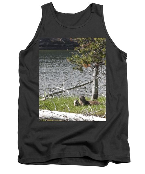 River Otter Tank Top by Belinda Greb