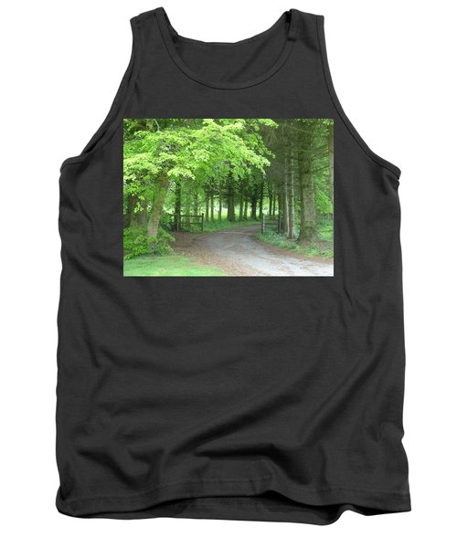 Road Into The Woods Tank Top
