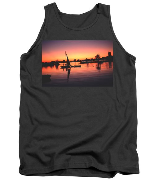 Sailing End Of The Day Backbay  Boston Tank Top by Tom Wurl