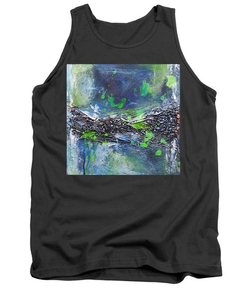 Tank Top featuring the painting Sea World by Nicole Nadeau