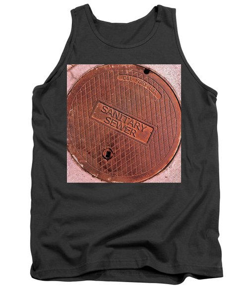 Sewer Cover Tank Top by Bill Owen