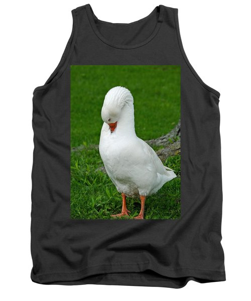 Tank Top featuring the photograph Shy Goose by Lisa Phillips