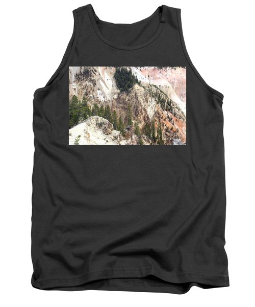 Tank Top featuring the photograph Sit For A Spell At Grand Canyon In Yellowstone by Living Color Photography Lorraine Lynch