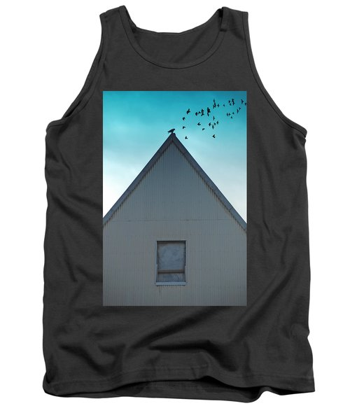 Tank Top featuring the photograph Sitting On The Peak by Kathleen Grace
