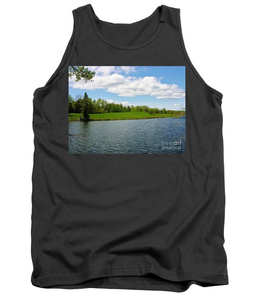 Tank Top featuring the photograph Sky And Water Almost Meet by Sherman Perry