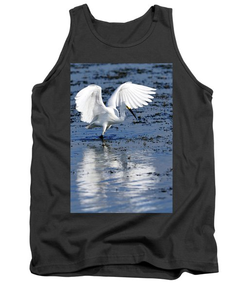 Snowy Egret Fishing Tank Top