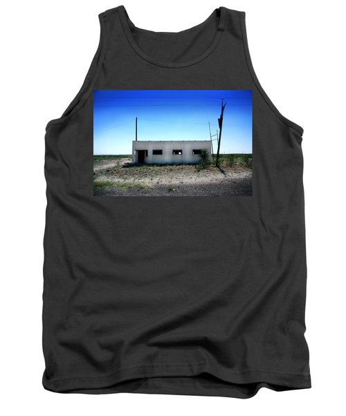 Tank Top featuring the photograph Somewhere On The Old Pecos Highway Number 1 by Lon Casler Bixby
