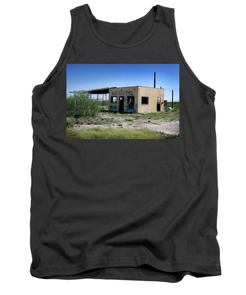 Tank Top featuring the photograph Somewhere On The Old Pecos Highway Number 7 by Lon Casler Bixby