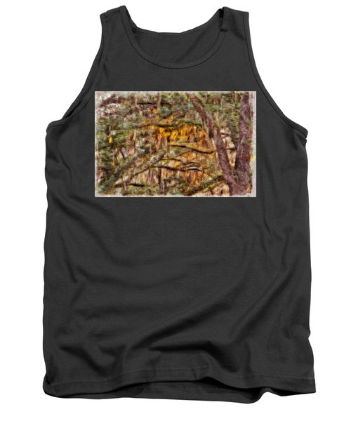 Spanish Moss And Sunset Tank Top