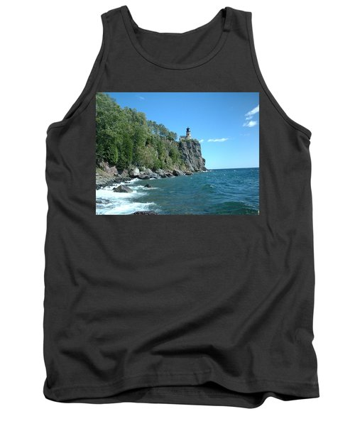 Tank Top featuring the photograph Split Rock by Bonfire Photography