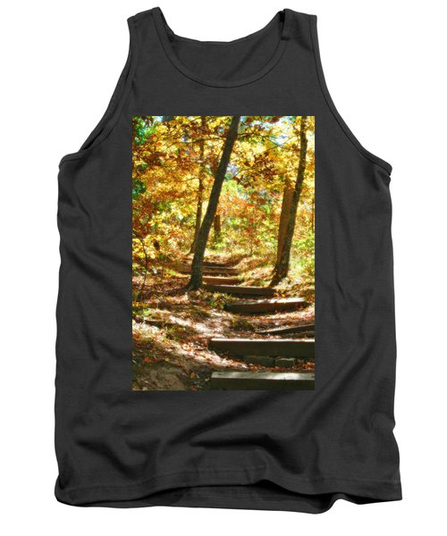 Tank Top featuring the photograph Stairway To Heaven by Peggy Franz