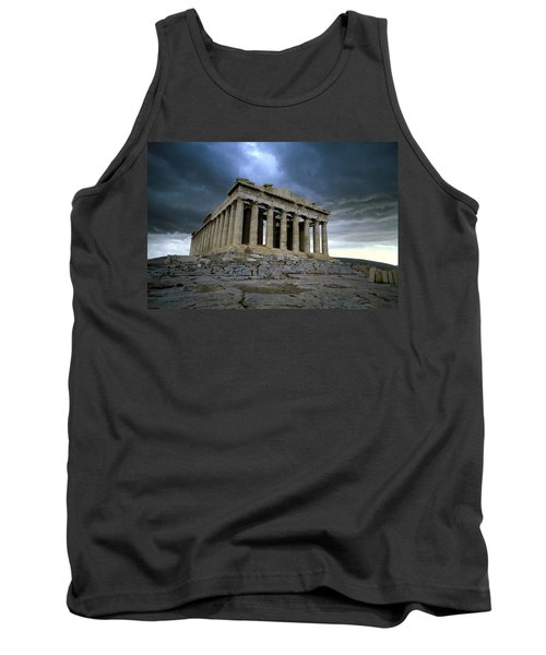Storm Over The Parthenon Tank Top