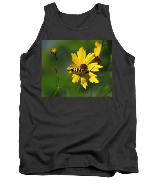 Striped Bee On Wildflower Tank Top