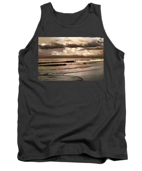 Tank Top featuring the photograph Summer Afternoon At The Beach by Steven Sparks