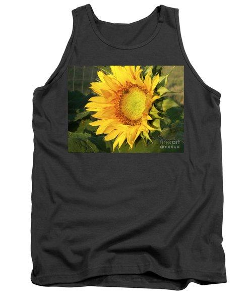 Tank Top featuring the digital art Sunflower Digital Art by Deniece Platt