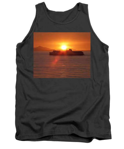 Tank Top featuring the photograph Sunset by Eunice Gibb
