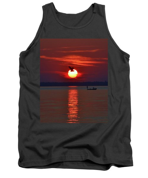 Sunset Fishing Tank Top