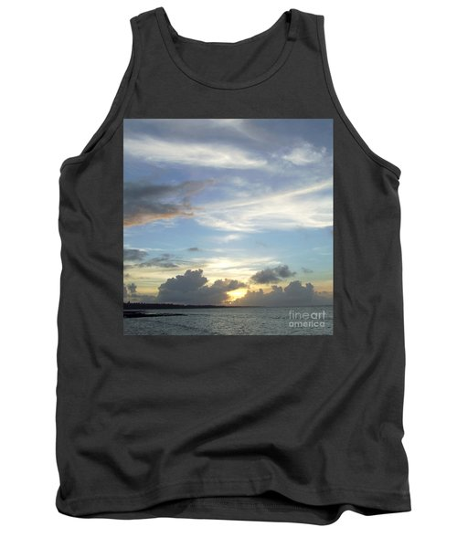 Tank Top featuring the photograph Sunset In Majuro by Andrea Anderegg