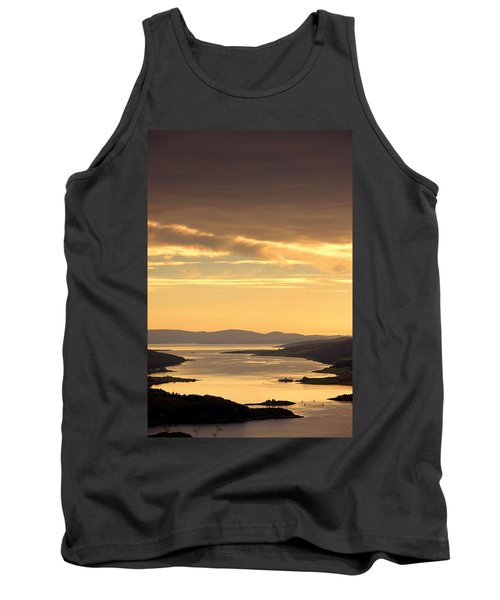 Sunset Over Water, Argyll And Bute Tank Top