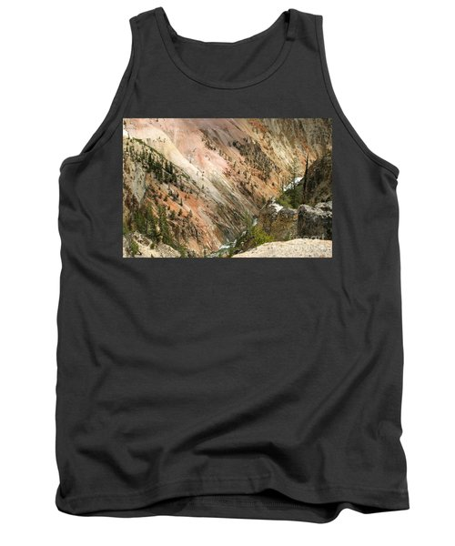 Tank Top featuring the photograph Sunshine On Grand Canyon In Yellowstone by Living Color Photography Lorraine Lynch