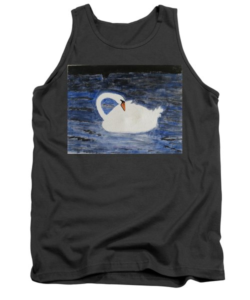 Tank Top featuring the painting Swan  by Sonali Gangane