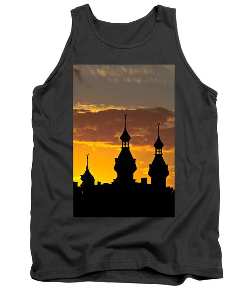 Tank Top featuring the photograph Tampa Bay Hotel Minarets At Sundown by Ed Gleichman