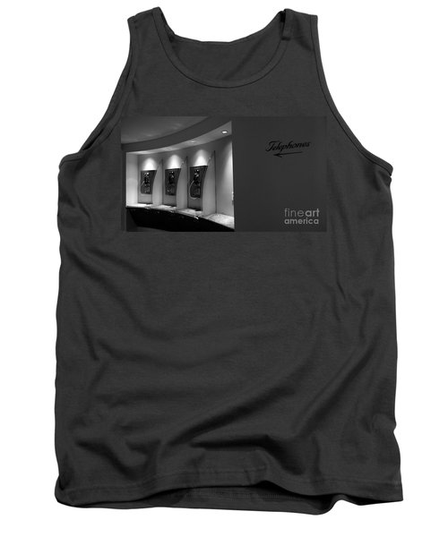 Tank Top featuring the photograph Telephones On Wall by Nina Prommer