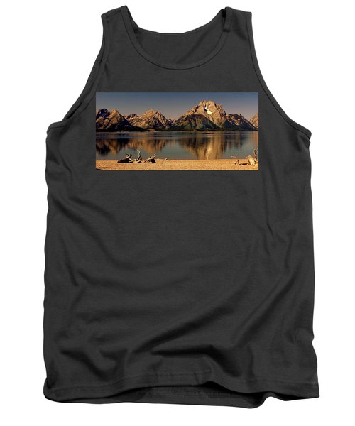 Tank Top featuring the photograph Teton Panoramic by Marty Koch