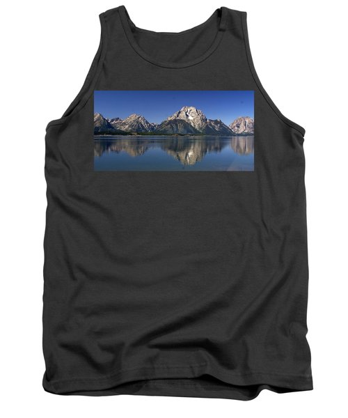 Tank Top featuring the photograph Teton Panoramic View by Marty Koch