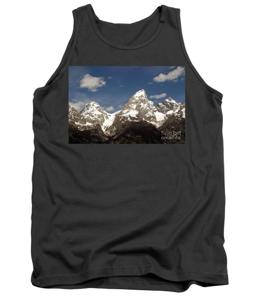 Tank Top featuring the photograph Teton Tips by Living Color Photography Lorraine Lynch