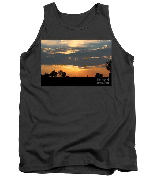 Tank Top featuring the photograph Texas Sized Sunset by Kathy  White