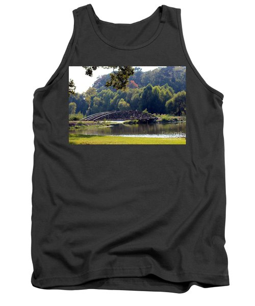 Tank Top featuring the photograph The Bridge by Kathy  White