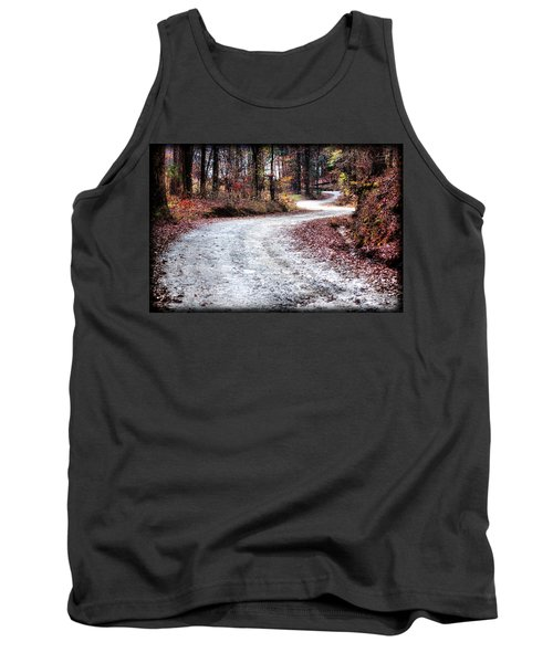 Tank Top featuring the photograph The Broken Road by Lynne Jenkins