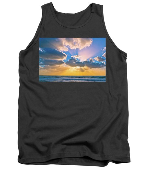 The Sea In The Sunset Tank Top