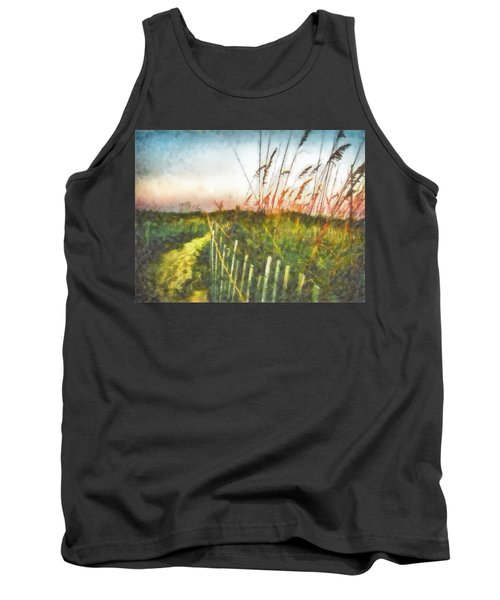 To The Sea Tank Top by Lynne Jenkins