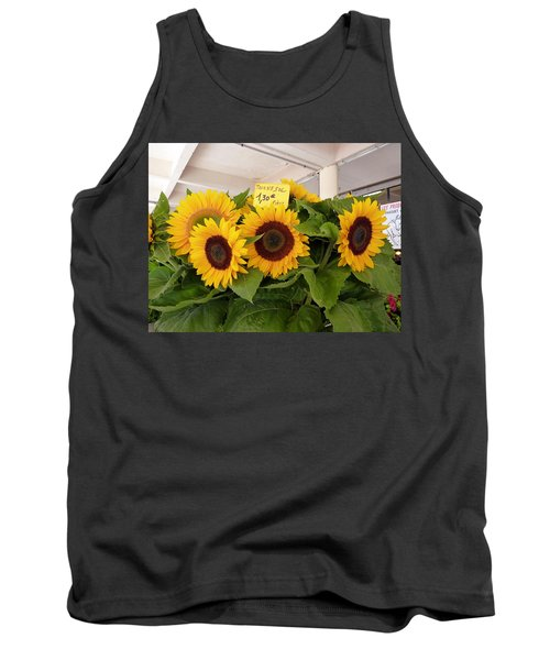 Tank Top featuring the photograph Tournesol by Carla Parris