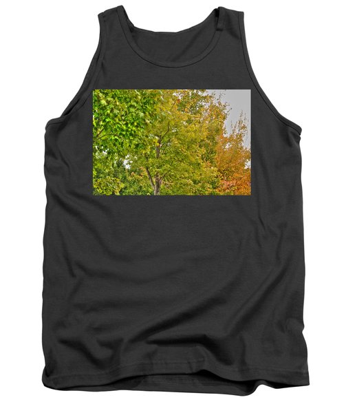 Tank Top featuring the photograph Transition Of Autumn Color by Michael Frank Jr