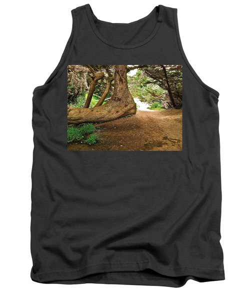 Tree And Trail Tank Top by Bill Owen