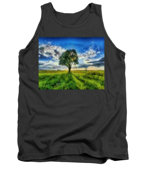 Tank Top featuring the painting Tree Of Life by Joe Misrasi