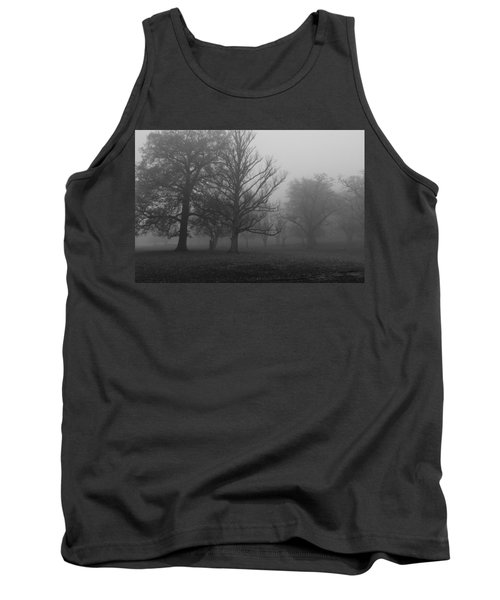 Tank Top featuring the photograph Trees And Fog by Maj Seda
