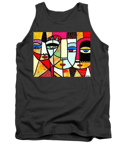 Tribal Batik Mask Spiritual Tank Top