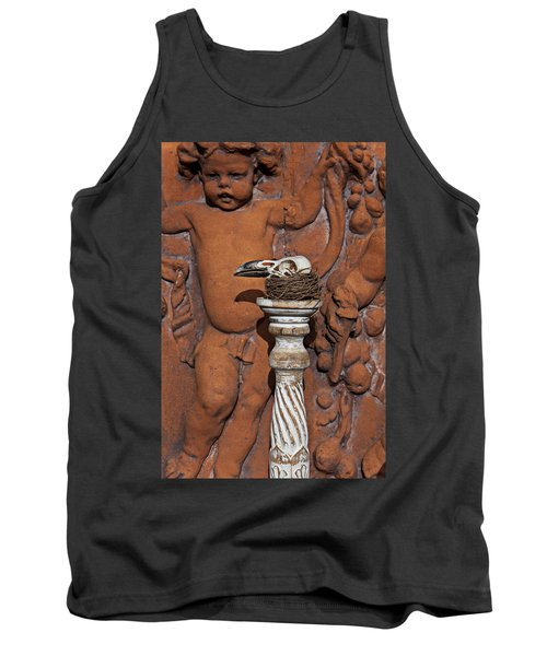 Turkey Vulture Skull Tank Top by Garry Gay