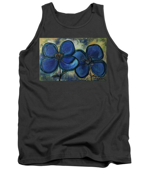 Two Blue Poppies Tank Top