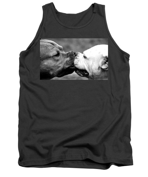 Two Dogs Kissing Tank Top
