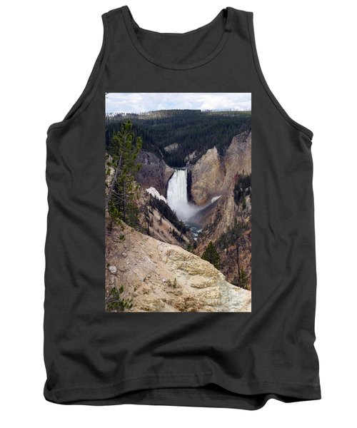 Tank Top featuring the photograph Vertical Lower Falls Of Yellowstone by Living Color Photography Lorraine Lynch
