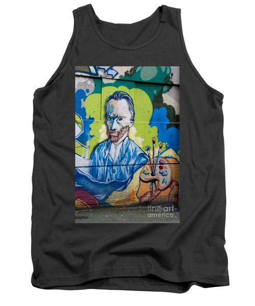 Vincent On The Wall Tank Top by Carol Ailles