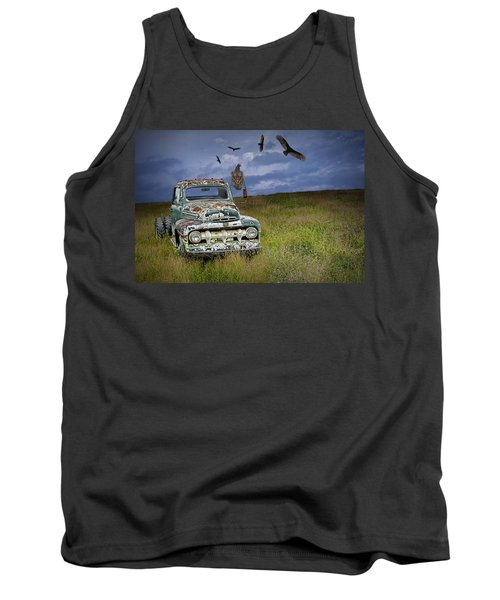 Vultures And The Abandoned Truck Tank Top