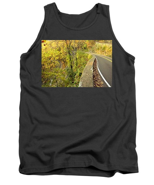 W Road In Autumn Tank Top