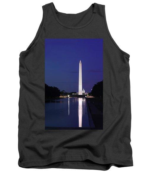 Washington Monument At Sunset Tank Top