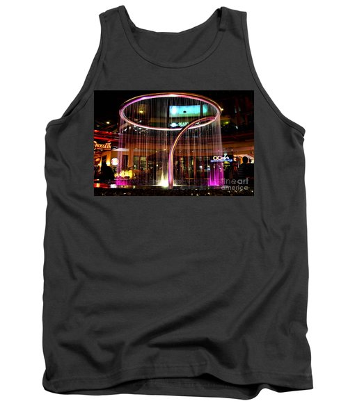Tank Top featuring the photograph Water Fountain With Circle Seven Shape by Christopher Shellhammer